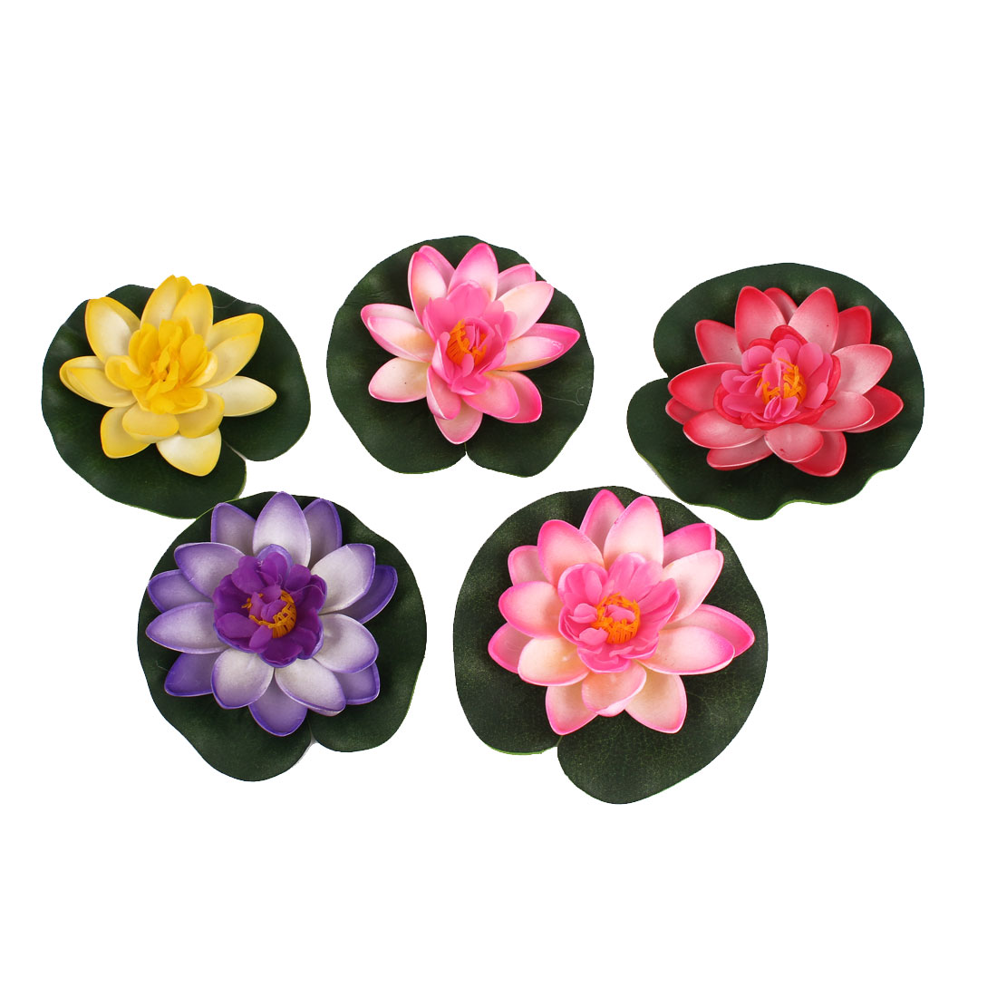 """3.5"""" Dia Assorted Color Artificial Foam  Floating Plant Decor for Fish Tank"""