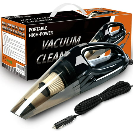Car Vacuum Cleaner, Costech 120W Powerful Suction Handheld Vacuum Cleaner, Multifunctional and Portable for Wet and Dry Materials with 16.4ft power cord, two Filters and a Carry Bag ()