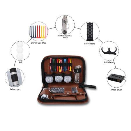 Qiilu Outdoor Sport Golfer Gift Set Tool PU Bag Golf Accessoires Kit Multifunctional,Golfer Tool Kit Bag, Golfer Tool Set Kit Bag - image 8 of 8