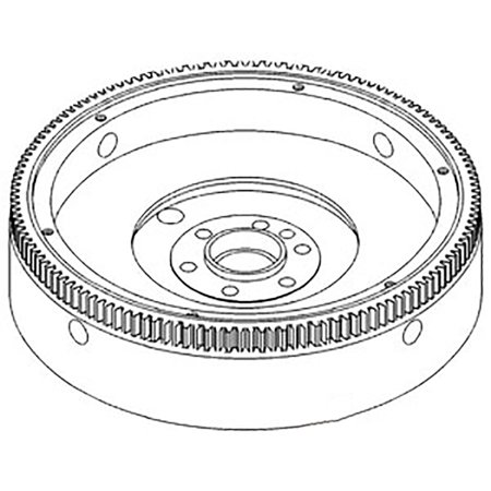 396420R91 New Flywheel w/ 133 Teeth Ring For Case-IH