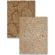spellbinders el-009 m-bossabilities reversible embossing folder, flora