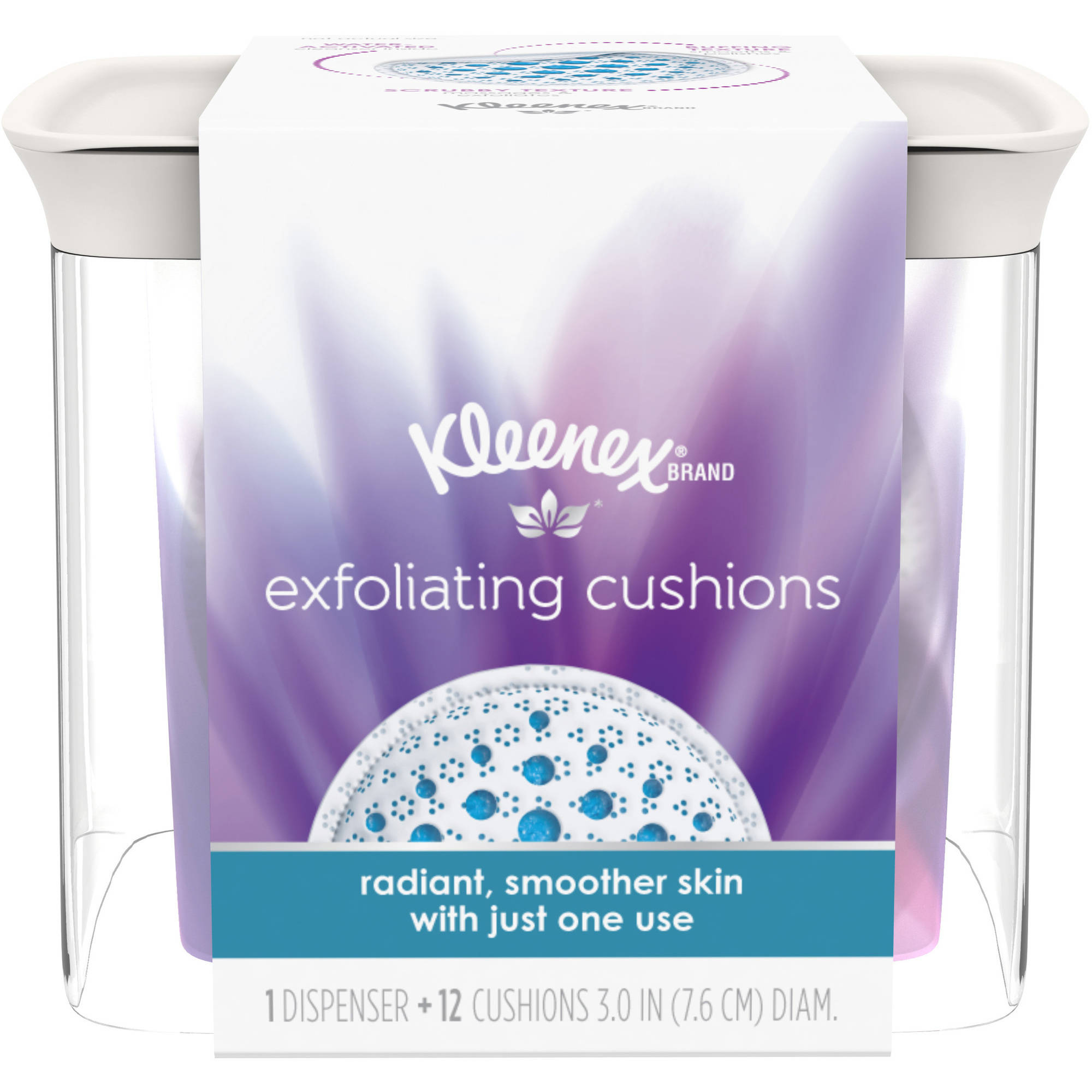Kleenex Exfoliating Cushions, Refillable Dispenser & Pads