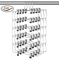 USTECH 6 Tier Skirt Hanger - 4 Pack