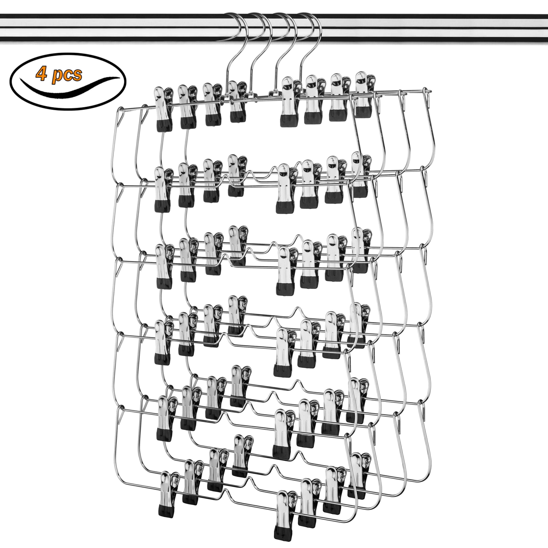 6 Tier Skirt Hanger - 4 Pack