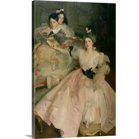 Great BIG Canvas | John Singer (1856-1925) Sargent Premium Thick-Wrap Canvas entitled Mrs. Carl Meyer, later Lady Meyer, and her (Myer Ladies)