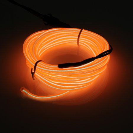 79inch  10 colors Flash Flexible Neon Light Glow El Strip Tube Wire Rope Kit