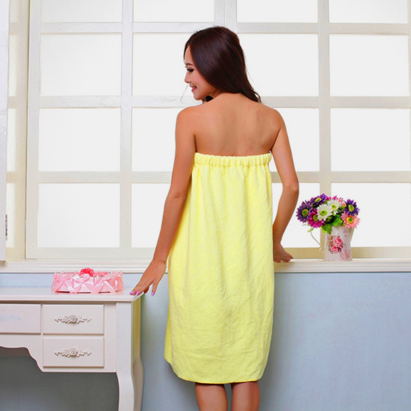 Women/'s Microfiber Bath Towel Shower Robe Bowknot SPA Absorbent Body Wrap Towel