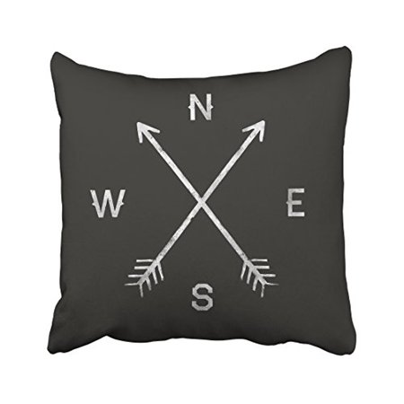 WinHome Decorative Black Arrow Direction Compass N S W E Home Delectable Customized Pillow Covers