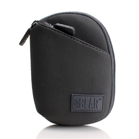 FlexARMOR CP4 Protective Digital Camera Case with Multiple Accessory Pockets , Neoprene Exterior & Heavy Duty Zipper by USA GEAR- Works with Panasonic Lumix DMC-TS30 , SZ8 , LF1 and