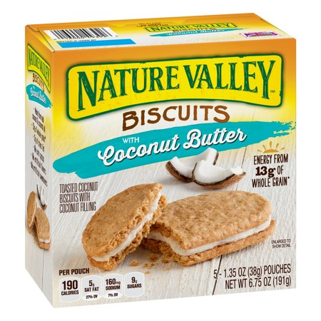 Nature Valley Coconut Butter Breakfast Biscuits 5 Pouches 1.35 oz