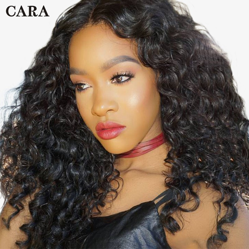 "CARA 250 Density Lace Front Human Hair Wigs Loose Wave, 10"""