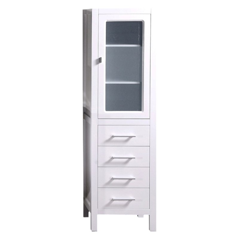 Design Element CAB004-W London 65-in. Linen Cabinet - Walmart.com