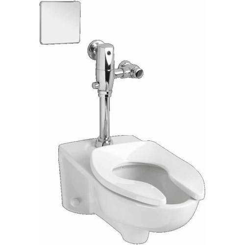 American Standard 3351.716.020 Commercial Afwall Millennium Toilet with Selectronic AC Flushing Valve Combo, White by American Standard