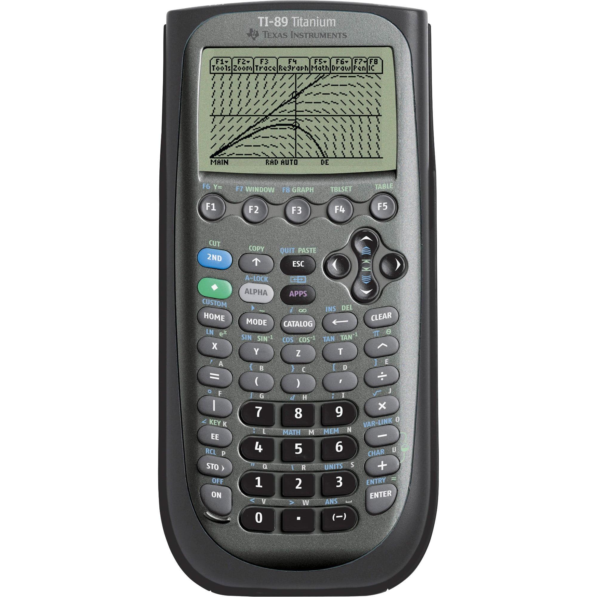 Texas Instruments, TEXTI89TITANIUM, TI-89 Titanium Graphing Calculator, 1 Each, Black