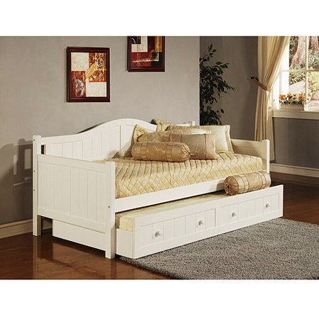 Staci Daybed with Trundle, White - Staci Daybed With Trundle, White - Walmart.com
