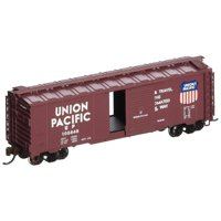 Bachmann Industries Inc. AAR 40' Steel Box Car UP - Automated Railway - N Scale, Brown, Rolling Stock for your N Scale layout By Bachmann Trains Ship from US