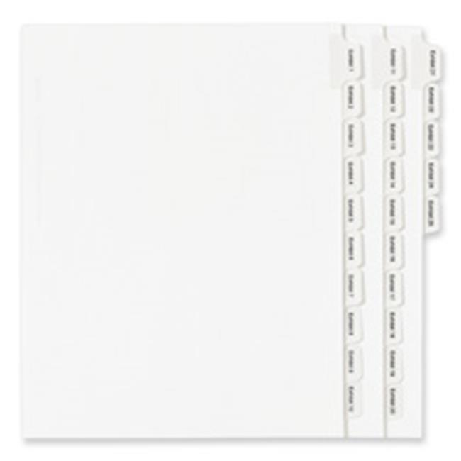 Avery AVE82149 Index Divider, Exhibit 17, Side Tab, 25-PK, White - image 1 of 1