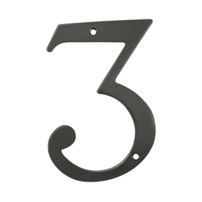 Deltana RN63U10B 6 in. House Numbers, Oil Rubbed Bronze - Solid Brass - image 1 of 1