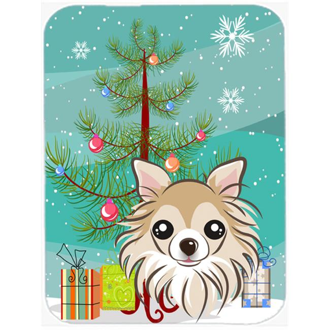 Carolines Treasures BB1623MP Christmas Tree And Chihuahua Mouse Pad, Hot Pad & Trivet - image 1 de 1