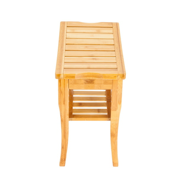 Clearance Sale Bamboo Shower Bench Seat Wood Spa Bath Luxury