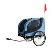 New Pet Bicycle Trailer Dog Carrier Blue