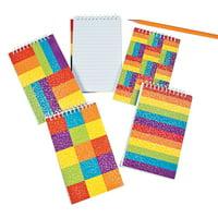 Fun Express - Spiral Rainbow Glitter Notebooks - Stationery - Notepads - Notepads - 12 Pieces