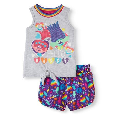Trolls Tank Top & Shorts, 2pc Outfit Set (Toddler Girls)](Character Outfits Ideas)