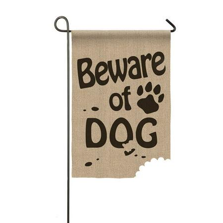 Evergreen Flag Beware of Dog Garden Flag