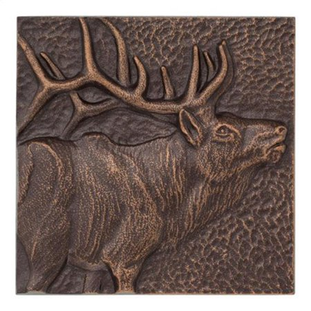 8 x 8 in. Elk Indoor & Outdoor Wall Decor - Antique (Antique Copper Outdoor Wall)