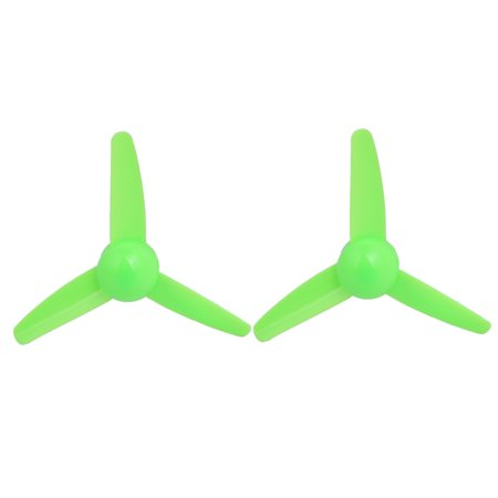 2PCS Plastic 3 Vanes RC Airplane Prop Propeller Paddle 3-inch (Green Vertical Vases)
