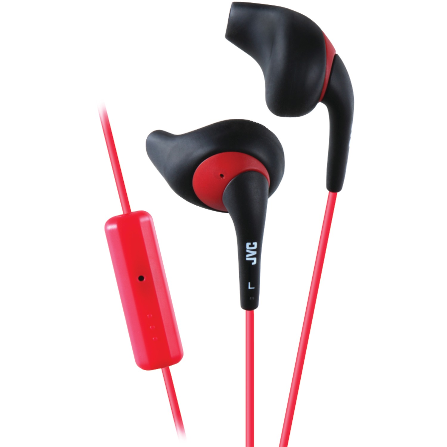JVC HAENR15BM Gumy Sports Earbuds with Microphone (Black)