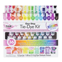 Tulip 18 Bottle One-Step Tie-Dye Kit, Bright Colors, Supplies for 6 People