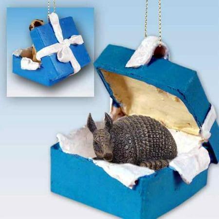 BGBA66 CON Armadillo Gift Box Blue Ornament