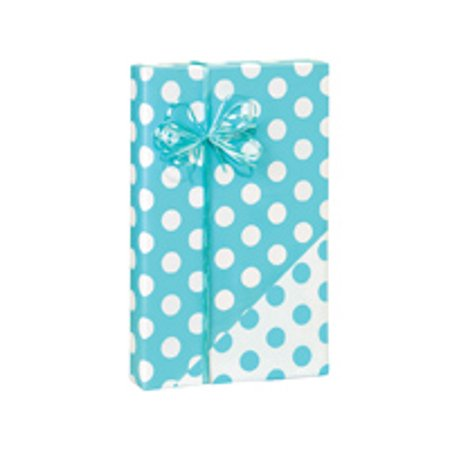 Turquoise and White Polka Dot Birthday / Special Occasion Gift Wrap Wrapping Paper-16ft