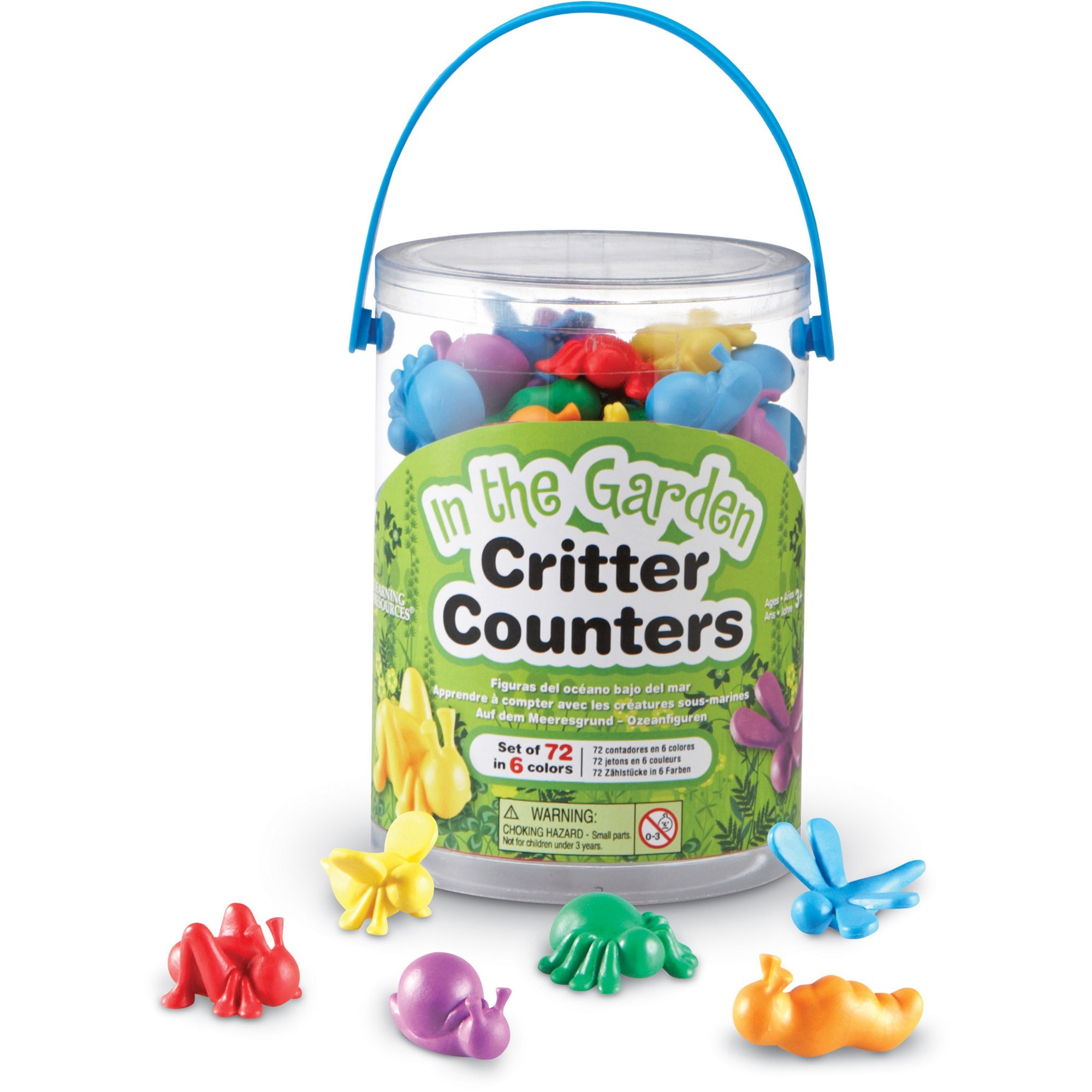 Learning Resources, LRNLER3381, In The Garden Critter Counters, 72, Multi