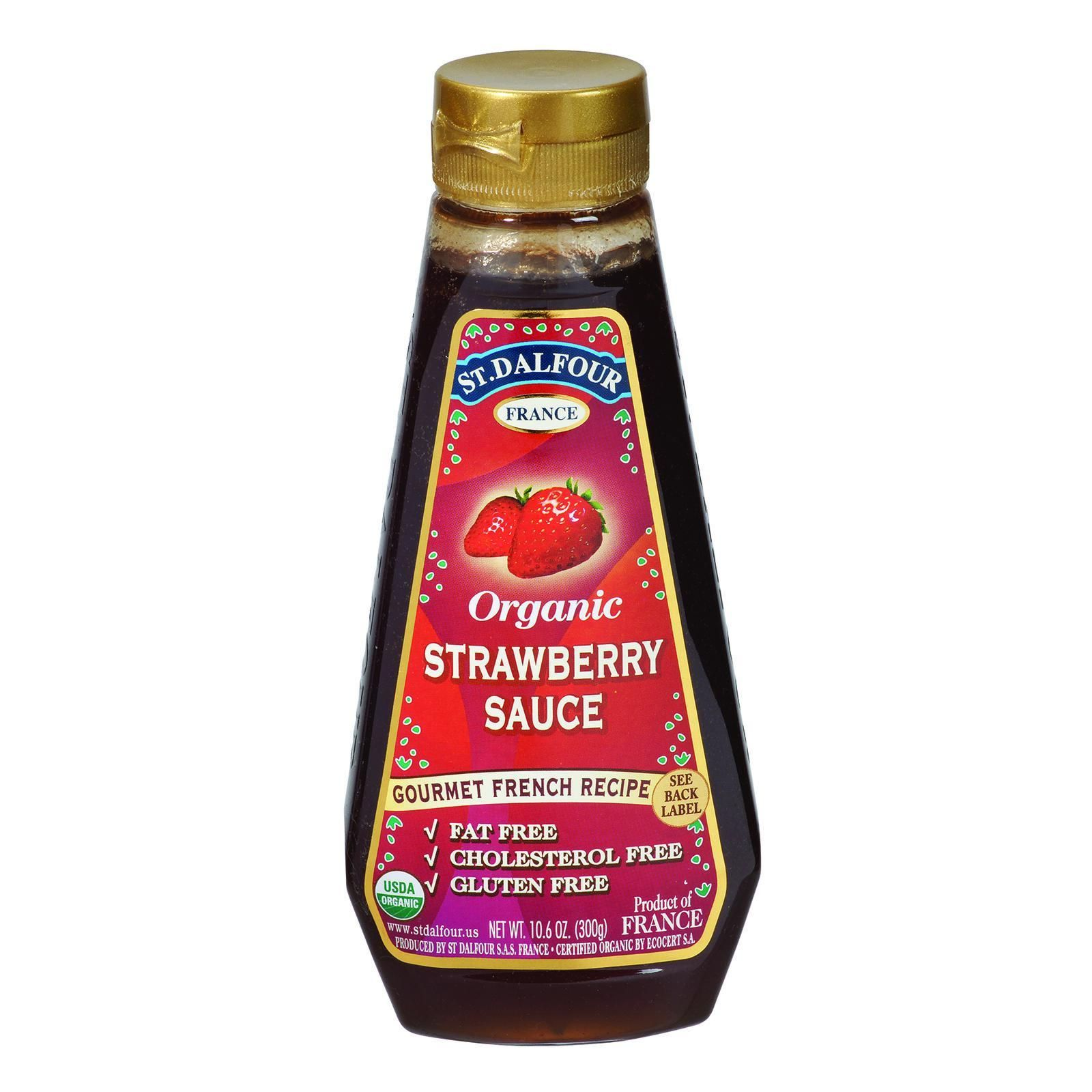 St Dalfour Organic Strawberry Sauce - 10.6 oz - Case of 6