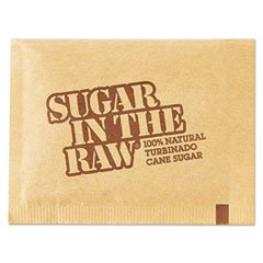 OFFICE SNAX, INC. 827749 Sugar Packets, Raw Sugar, 0.18 oz Packets, 500 per Carton (Metal Sugar Packet)