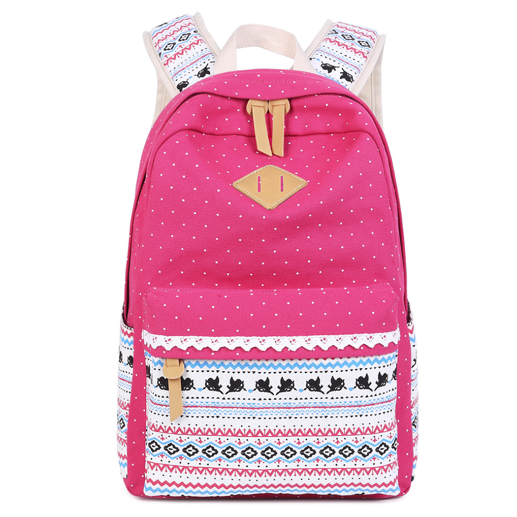Canvas Backpack, Coofit Multi-pockets Adjustable Straps Travel Bookbag Casual Daypack School Backpack for Teens Kids Student Girls Boys