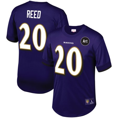 Ed Reed Baltimore Ravens Mitchell & Ness Mesh Retired Player Name & Number T-Shirt - -
