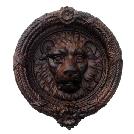 Cast Iron Antique Style Lion Head Door Knocker Large Rustic Home Decor