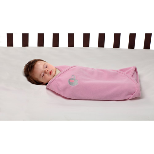 Little Bedding by NoJo Elephant Time Swaddle Blanket, Pink