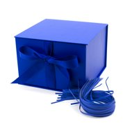 Hallmark Large Solid Color Gift Box (Navy Blue)