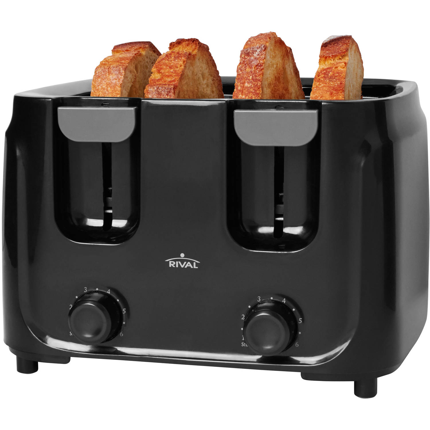 Rival 4-Slice Toaster, Black