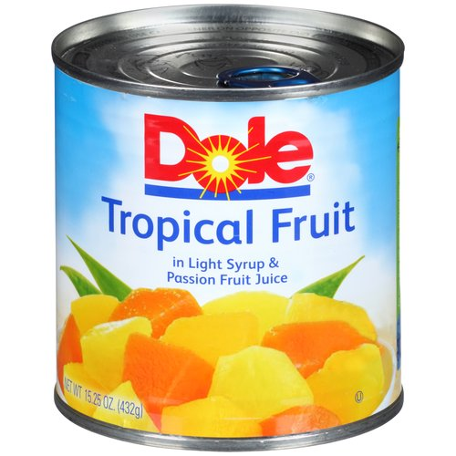 Dole Tropical Fruit in Light Syrup & Passion Fruit Juice, 15.25 oz