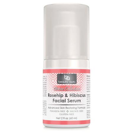 Beauty Aura Rosehip & hibiscus Facial Serum 2 oz