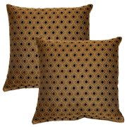 FHT Glimpse Pepper 17-in Throw Pillows (Set of 2)