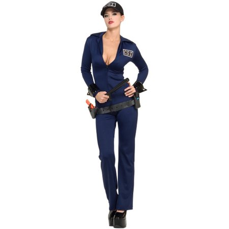 Police And Criminal Halloween Costumes (Women's Adult Criminal Investigator  CSI Police Officer)