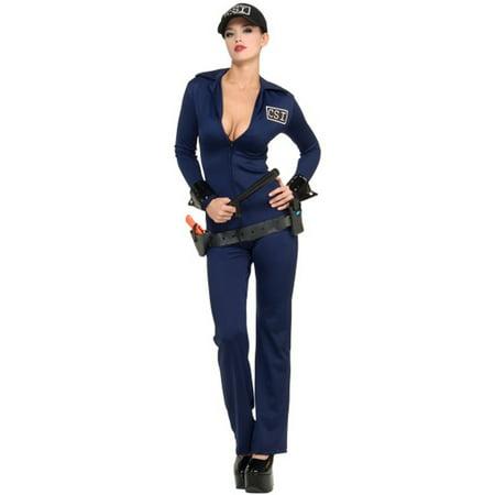 Women's Adult Criminal Investigator  CSI Police Officer Costume