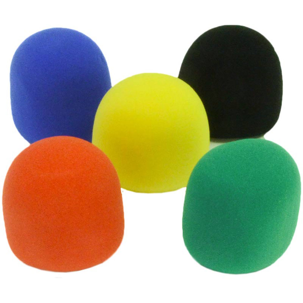 Seismic Audio NEW 5 Foam Microphone Windscreens-Color Mic Wind Screen Multi color - SAPT19