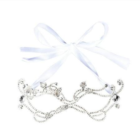 (Bridal Mask Wedding Crystal Rhinestone Baroque Eye Mask for Wedding Prom Party)